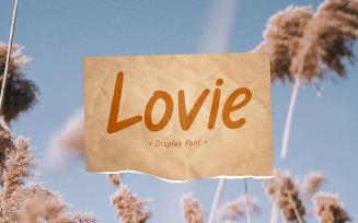 Lovie - Beautiful Display Font