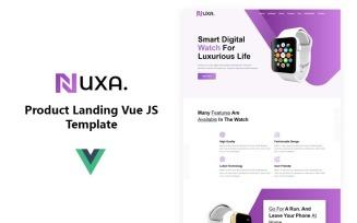 Nuxa - Product Landing Vue JS Template