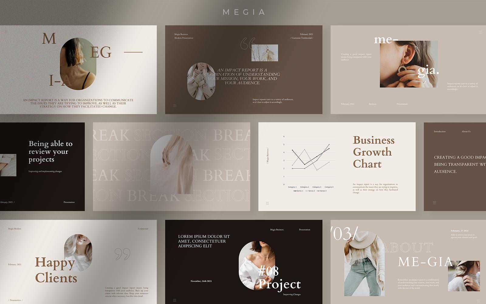 Megia Elegant Presentation PowerPoint Template