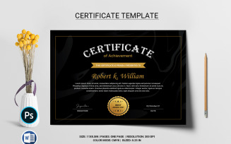 Robert Certificate Template