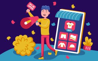 Shopping Vector Illustration #07