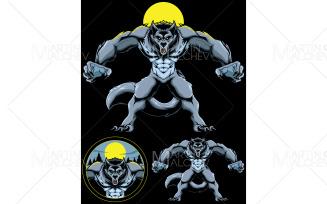 Werewolf Fantasy Mascot Vector Illustration