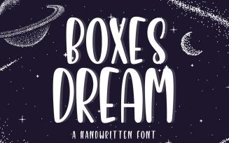 Boxes Dream - Cute Sans Serif Font