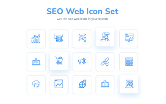 Creative And Attractive Seo Web IconSet