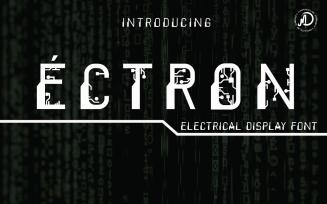 ECTRON Electrical Display Font