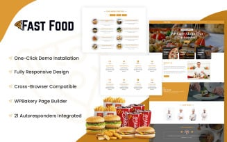 Fast Food - Food Restaurant Website WordPress Theme