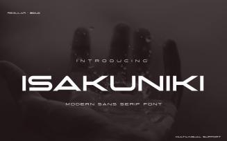 ISAKUNIKI Modern Sans Serif Font