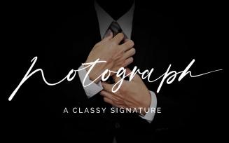 Notograph Signature - Script Font