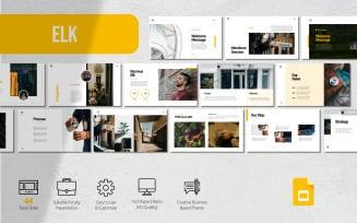 Elk - Minimalist Presentation - Google Slides Template