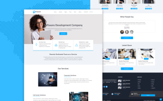 Pentasoft – Software Solutions & Consulting HTML website Template