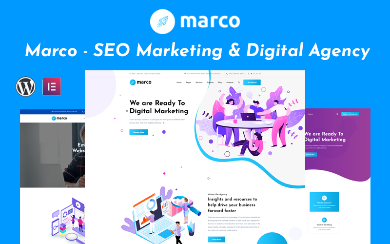 Marco - SEO Marketing And Digital Agency Wordpress Theme