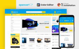 Robotic Electronics Store OpenCart Template