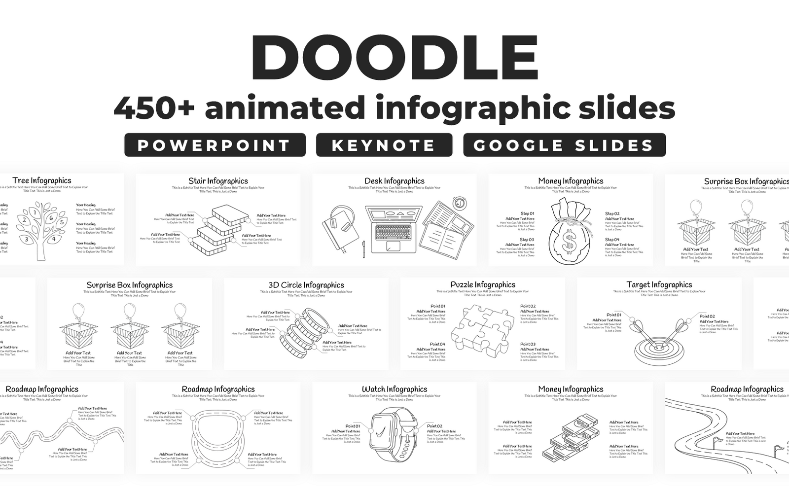 Doodle PowerPoint Infographics Template