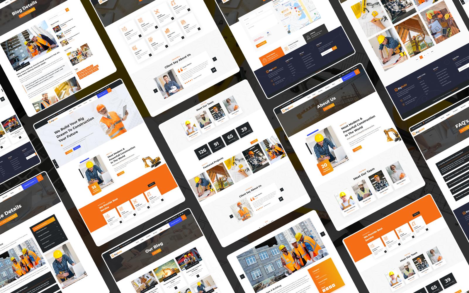 Big Build: Creative Construction HTML5 Website Theme