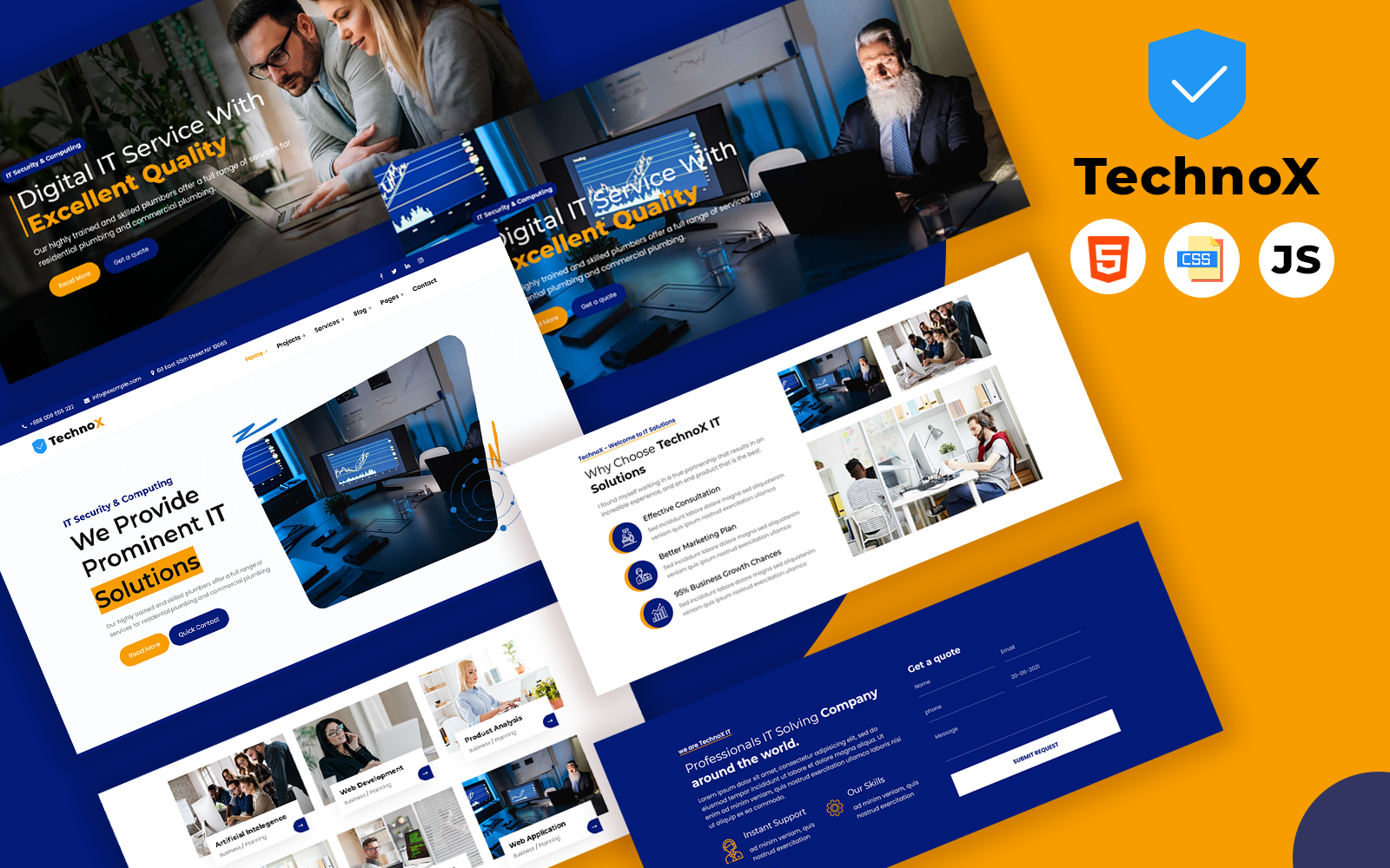 TechnoX - IT Solution and Business Consulting Website Template