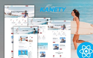 Kanety Multipurpose Water Sports React Js Website Template