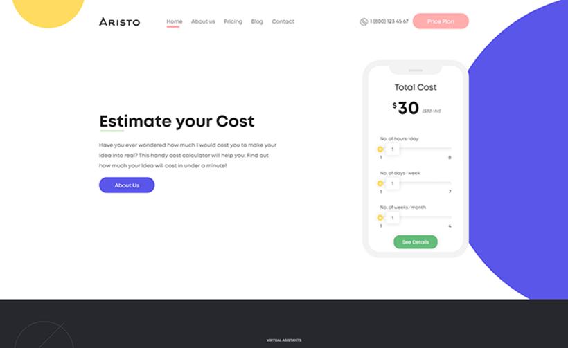 Aristo HTML Website template