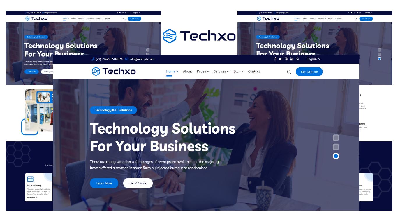 Techxo - Technology Services HTML5 Website template