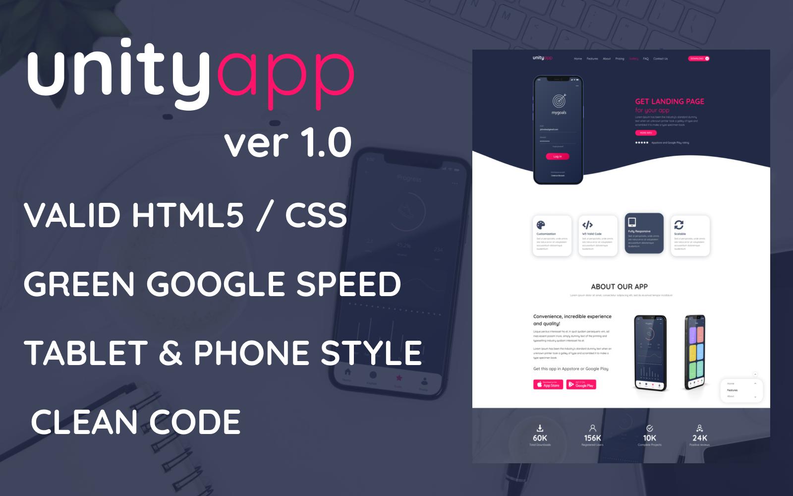 Unityapp - Software App Landing Page