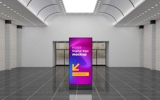 Advertising Totem Mockup Digital Signage Mockup Template