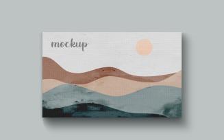 Painting Canvas Horizontal Frame Mockup Template