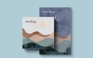 Painting Canvas Square And Vertical Frame Mockup Template