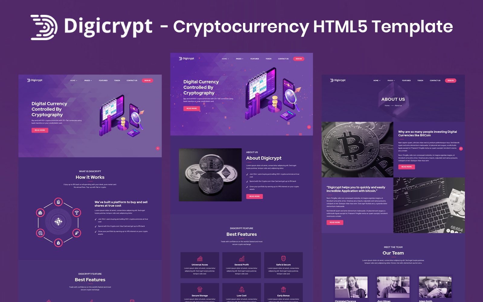 Digicrypt - Cryptocurrency HTML5 Template