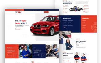 CarDoc Car Repair One Page UI Elements