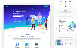 Geek Boost Services One Page UI Elements