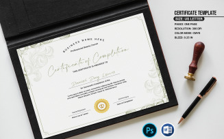 Lewis Completion Certificate Template