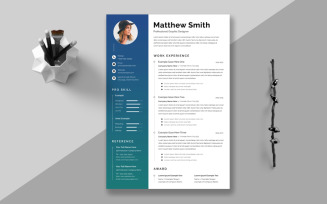 Blue Gradient Resume Template
