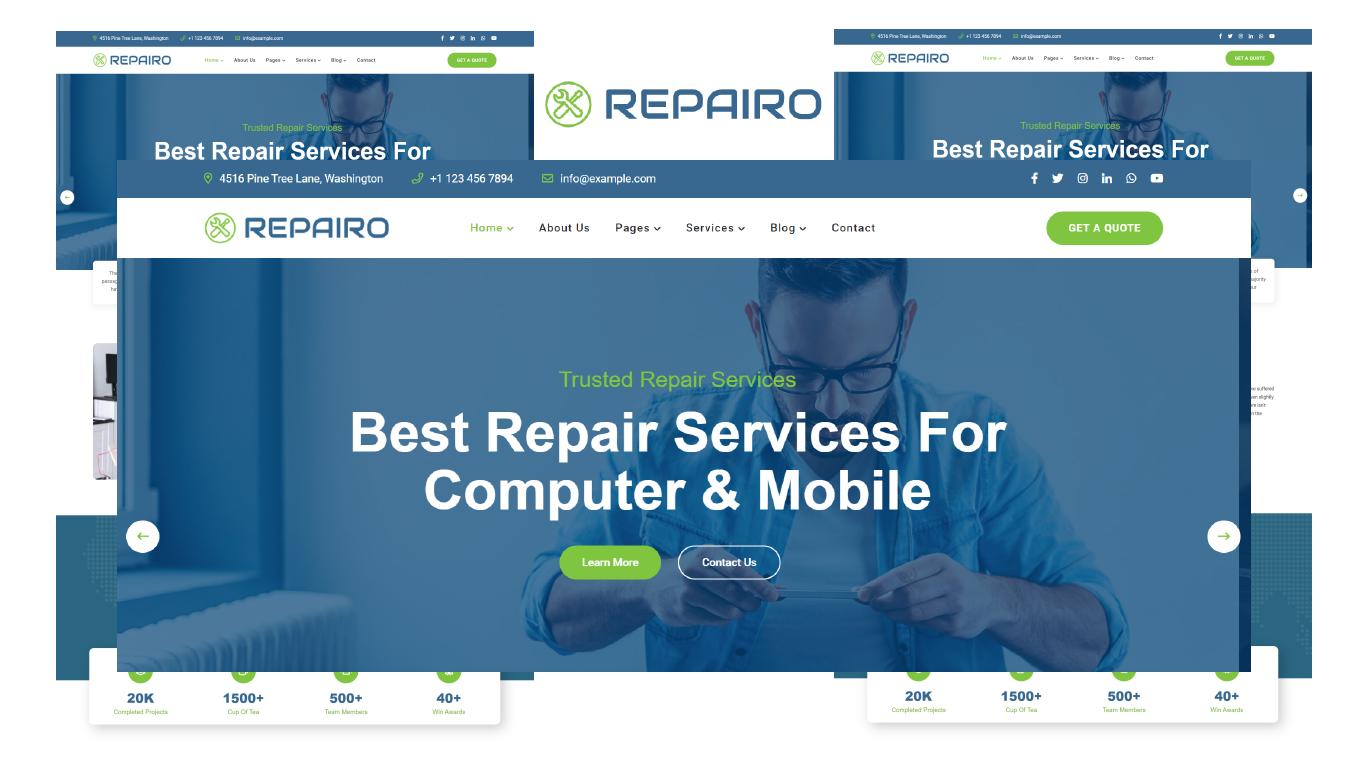 Repairo - Computer & Mobile Repair HTML5 Template