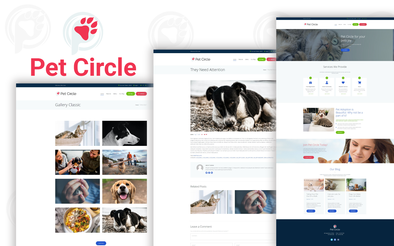 PetCircle HTML Website Template
