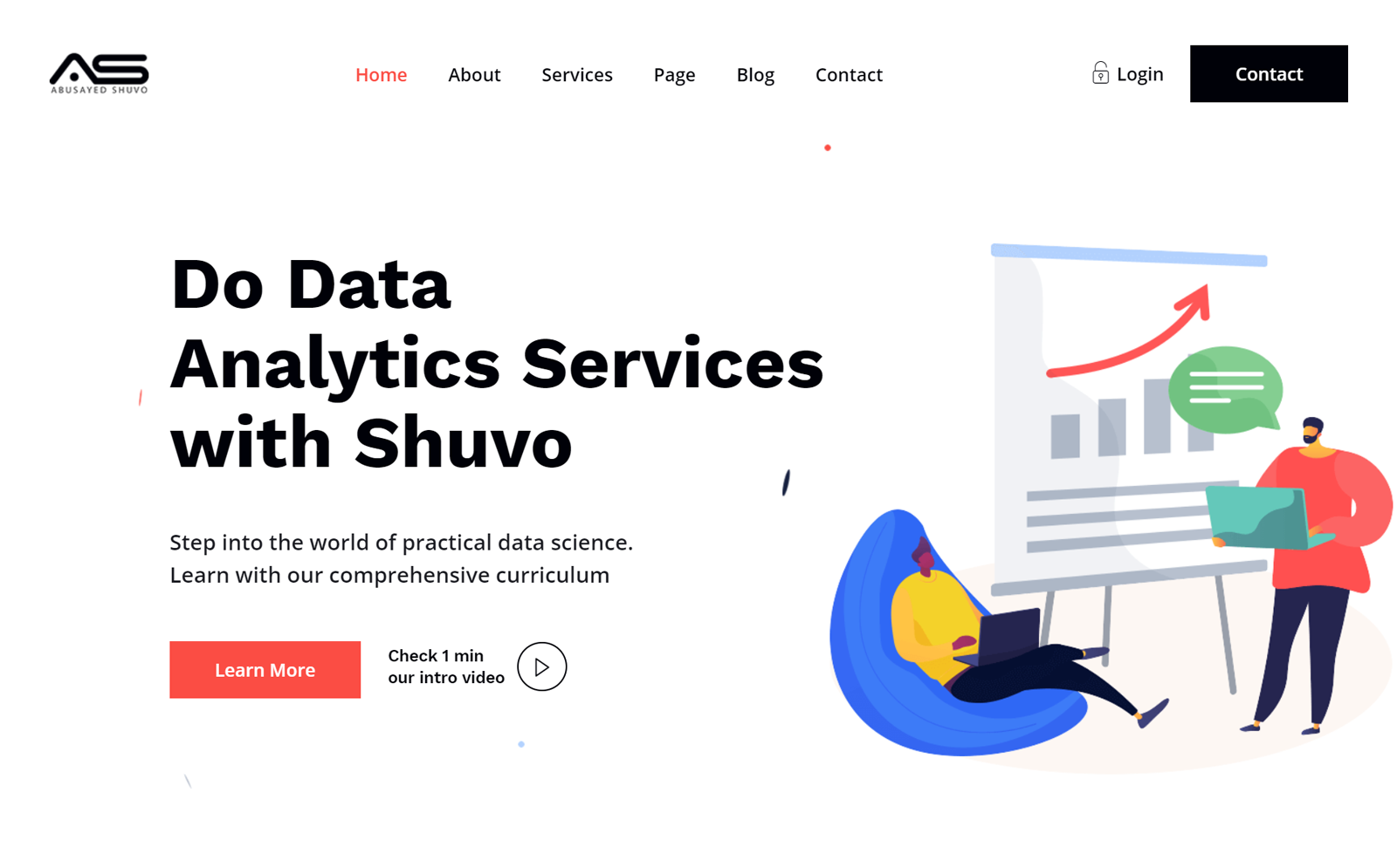 Shuvo    Digital Data Science HTML Website template