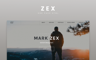 Zex - Personal Multipurpose Portfolio Onepage Html Landing Page Template