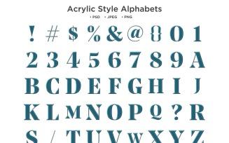 Acrylic Style Alphabet Abc Typography
