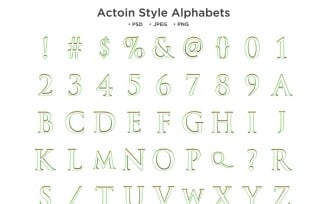 Action Style Alphabet, Abc Typography