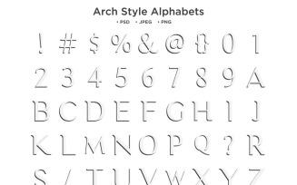 Arch Style Alphabet Abc Typography