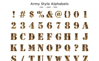Army Style Alphabet Abc Typography