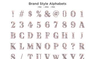 Brand Style Alphabet, Abc Typography