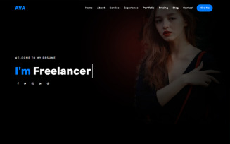 Ava - Personal Portfolio HTML5 Landing Page Template
