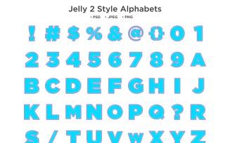 Jelly 2 Style Alphabet, Abc Typography