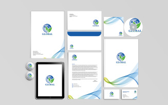 Brand Identity and Stationary Design Template