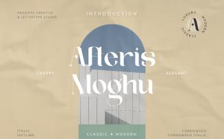 Afteris Moghu Modern Vintage Font
