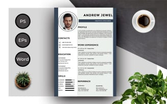 FREE Resume Template Of Andrew Professional CV Resume Template