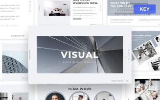 Visual - Minimal Keynote Presentation Template