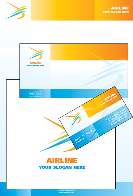 Airline Tickets Corporate Identity Template Vector Corporate Identity preview