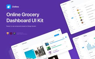 Delites - Online Grocery Dashboard UI Kit