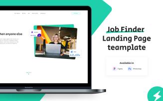 GoWwworks – Minimal Employment Agency Landing Page UI Template