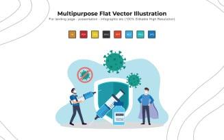 Vaccination Day - Flat Vectors Illustration Design